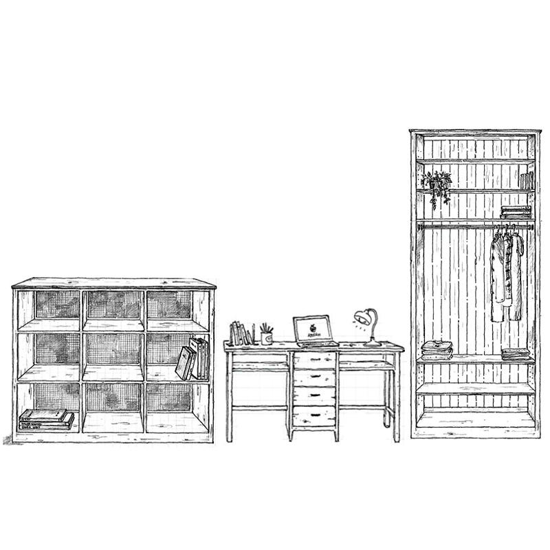 木製家具イラスト